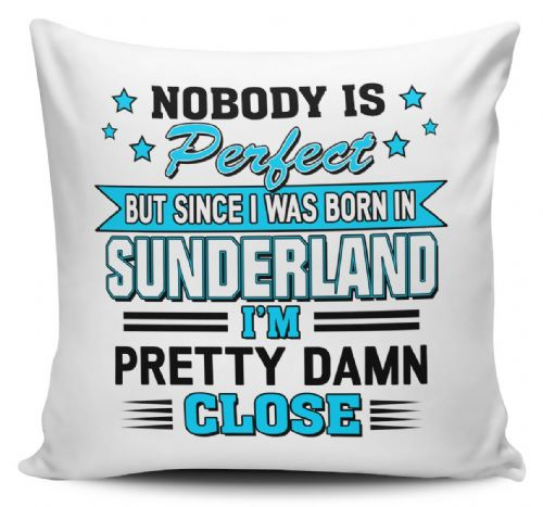 Personalised Nobody Is Perfect But Since I was Born In... Funny Cushion Cover Variation